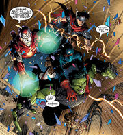 Nathaniel Richards and the original Young Avengers from Young Avengers Vol 1 1