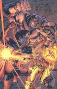 Kallark (Earth-616),Cain Marko (Earth-616) and Amber Hunt (Earth-93060) from Battlezones Dream Team 2 Vol 1 1 0001