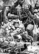Rampaging Hulk Vol 1 7 Hulk Man-Thing Pinup
