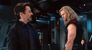 Anthony Stark and Thor Odinson (Earth-199999) from Marvel's The Avengers 0001