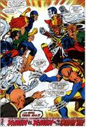X-Sentinels (Earth-616) vs X-Men (Earth-616) from X-Men Vol 1 99 0001