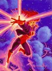 Angelica Jones (Earth-616) from 1994 Marvel Masterpieces (Trading Cards) 0001