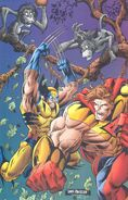 Kevin Green (Earth-93060) and James Howlett (Earth-616) from Battlezones Dream Team 2 Vol 1 1 0001