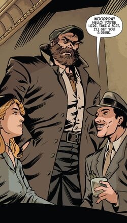 Woodrow McCord Jr. (Earth-616) meets Howard Stark (Earth-616) and Margaret Carter (Earth-616) from Operation S.I.N. Vol 1 1