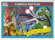 Fantastic Four vs. Victor von Doom (Earth-616) from Marvel Universe Cards Series I 0001