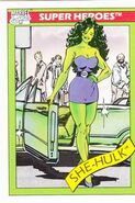 Jennifer Walters (Earth-616) from Marvel Universe Cards Series I 0001