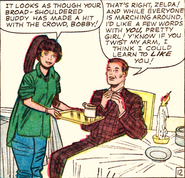 Zelda Kurtzberg (Earth-616) and Robert Drake (Earth-616) from X-Men Vol 1 7 0001