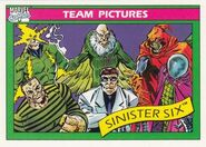 Sinister Six (Earth-616) from Marvel Universe Cards Series I 0001