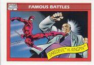 Matthew Murdock vs. Wilson Fisk (Earth-616) from Marvel Universe Cards Series I 0001