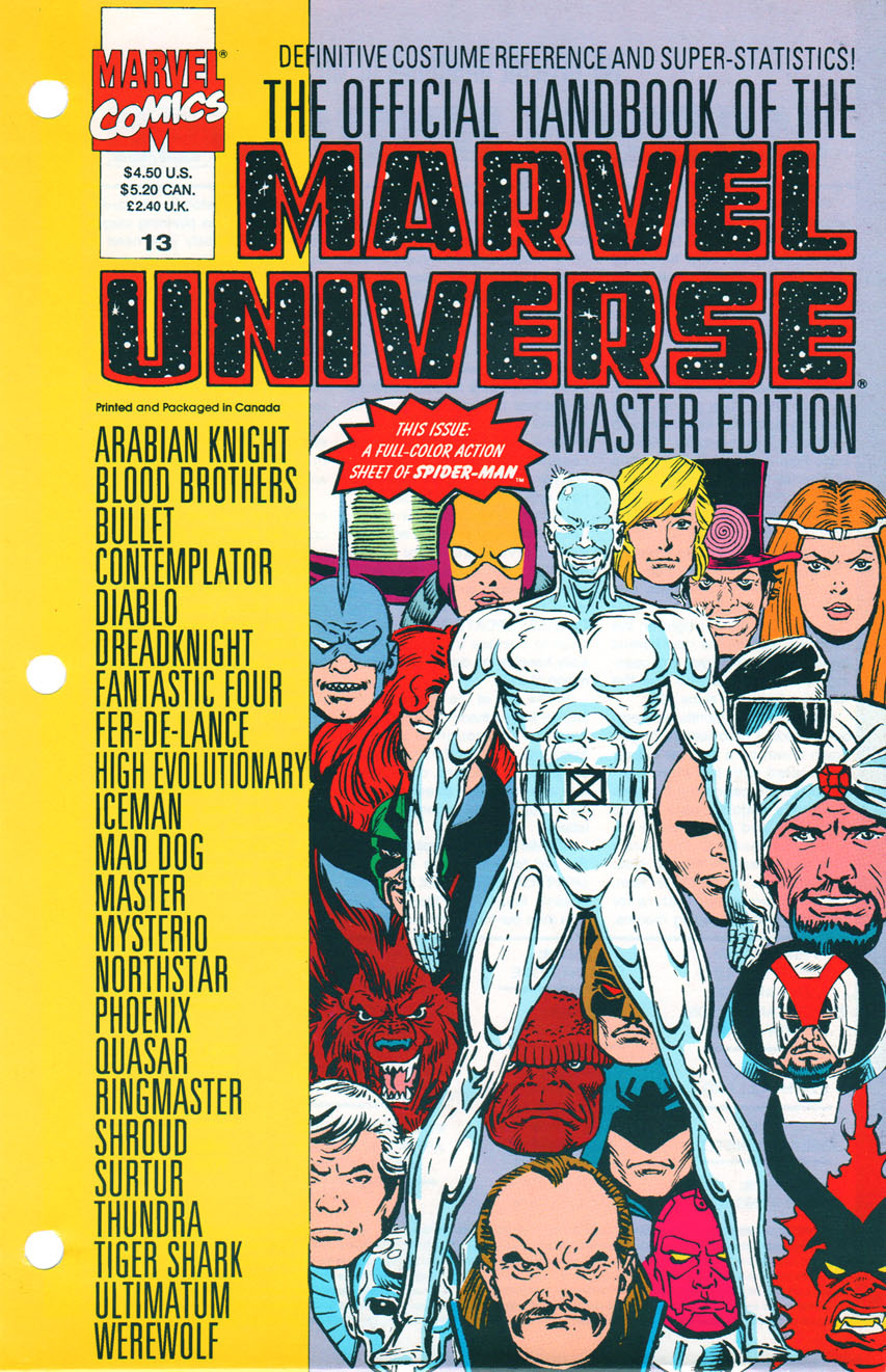 Official Handbook of the Marvel Universe Master Edition
