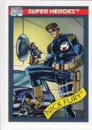 Nicholas Fury (Earth-616) from Marvel Universe Cards Series I 0001