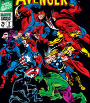 Avengers (Earth-616) vs Avengers (Earth-689) from Avengers Annual Vol 1 2