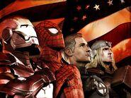 Tony Stark, Peter Parker, Thor Odinson, Reed Richards (Earth-6109)