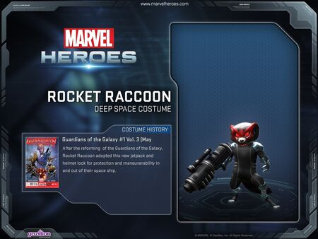 Costume rocketraccon deepspace