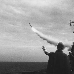 <b>1962: CUBAN MISSILE CRISIS.</b><br /><i>Secret government department responsible for conflict.</i><br />  During a pivotal moment in the Cold War, missiles launched near Cuba allegedly malfunction due to an unidentified group with unexplained powers.
