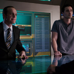 Ward and Coulson on the Bus.