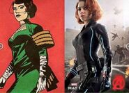 Black Widow-comic comparasion