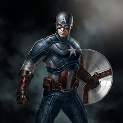 Production concept art of Captain America for The Avengers.