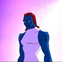 Mystique after her enhancements.