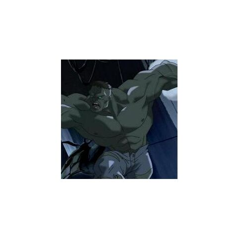 Hulk as he appears in <i>Ultimate Avengers</i>.