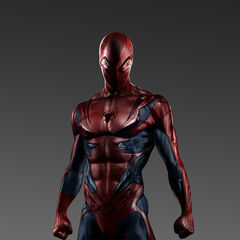 Concept art for Spider-Man's costume.