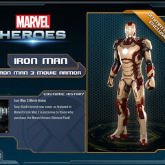 Mark XLII suit in Marvel Heroes.