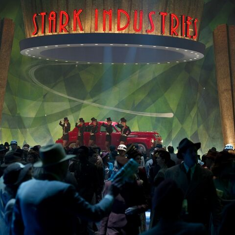 Stark Industries presentation at the World's Fair during WWII