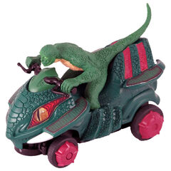 Merchandising from the movie: Lizard on his motorcycle.