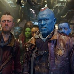 Yondu, his second-in command Kraglin, and the Ravagers.