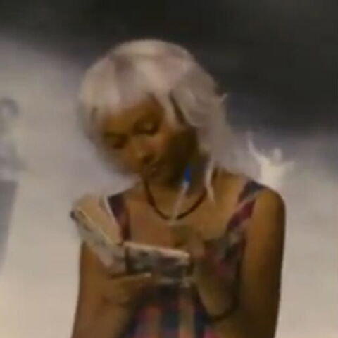 Elizabeth Wright as Ororo seen in Cerebro by Charles Xavier in <i><a href=