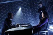 Phil Coulson interrogates Skye