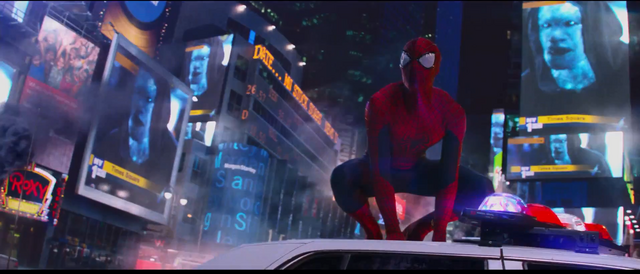 File:Spider-Man arrvies in Times Square.png