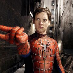 Peter attempts to fire webbing.
