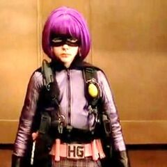 Hit-Girl gets ready to fight some members of the mob.