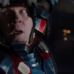 President Ellis suspended in the Iron Patriot armor