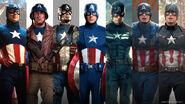CaptainAmerica uniform evolution