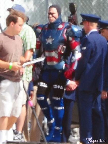 Iron Patriot Armor Iron Patriot Armor on Set