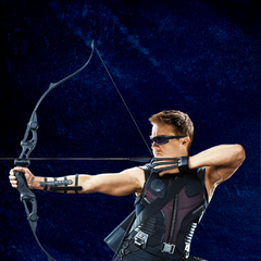 Promotional Russian Poster featuring Hawkeye.
