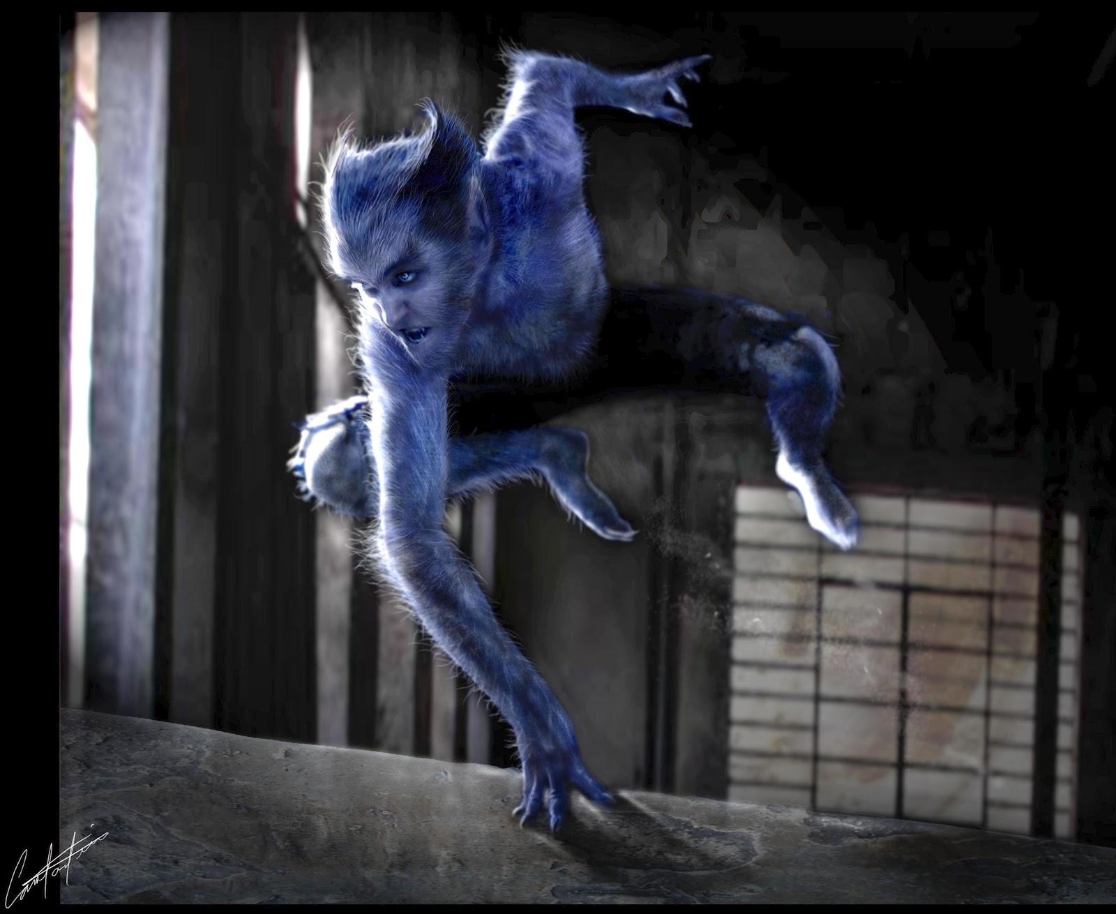 X Men First Class Beast Concept art from X-Men First