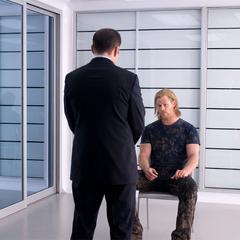 Coulson interrogates Thor.