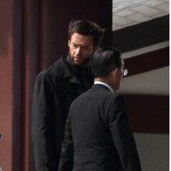 Jackman on the Japanese set.