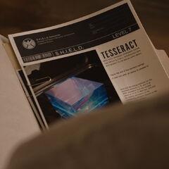 Steve Rogers reviews S.H.I.E.L.D.'s file on Tesseract.