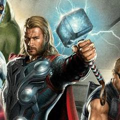 Thor in <i>Avengers</i> promo art.