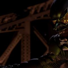 The Goblin terrorizes the Queensboro Bridge.