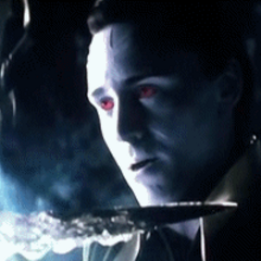 Loki using his Frost Giant abilities.