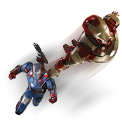 Iron Man & Iron Patriot promo art.