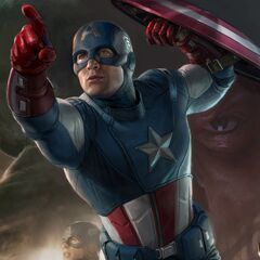 Captain America promo art.