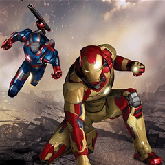 Iron Patriot and Iron Man Art.