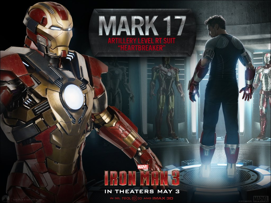 Iron Man 3 Armor Suits Mark 17 Marks 1-4