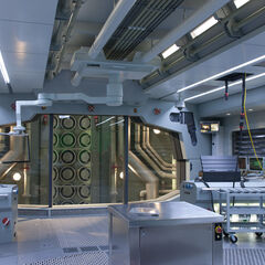 The Wishbone Lab in the S.H.I.E.L.D Helicarrier.